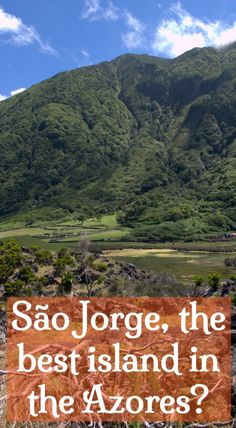 São Jorge island. The best of the Azores. This long, thin island offers isolated villages with no cars, stunning scenery, natural swimming pools and wonderful walks and hikes. Click to learn more.