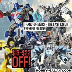 Pre-Order at Hobby-Galaxy.com!  #Hasbro #Transformers #TheLastKnight #Premier Voyager & Deluxe Series #ActionFigure Set $13-$22 OFF!  #transformer #transformersthelastknight #transformerstoys #cybertron #autobots #autobot #decepticons #decepticon #megatron #optimusprime #bumblebee #grimlock #toyporn #toysrlikeus #toystagram #toyslagram #justanothertoygroup #toygroup_alliance #toygraphyid #toycrewbuddies #toycrewbuddiesusa #toycrewbuddiesjp #toycommunity #toysaremydrug #hobbygalaxy