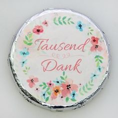 Schokotaler Tausend Dank Decorative Plates, Thanks A Million, Guest Gifts, Marriage Anniversary