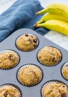 Is there anything better for breakfast than banana muffins? How about this Vegan Banana Chip Muffin Recipe? You bet your ass it is! This muffin recipe is refined-sugar free, vegan,