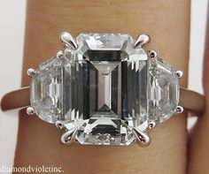 Hey, I found this really awesome Etsy listing at https://www.etsy.com/listing/210539689/345ct-estate-vintage-emerald-cut-diamond