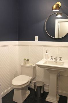 Ku0026L Interiors / Linden Avenue Powder Room