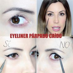 Discover recipes, home ideas, style inspiration and other ideas to try. Makeup Blog, Love Makeup, Makeup Tips, Beauty Makeup, Eyeliner For Hooded Eyes, Cat Eyeliner, Eye-liner Chat, Eye Tricks, Eyeliner For Beginners