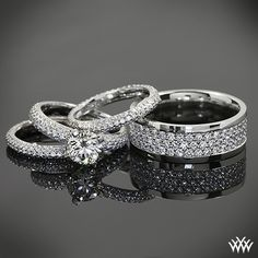 Diamond dazzled by this powerful pave duo. Whiteflash ACA Hearts and Arrows Diamond