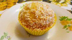 Muffin cu cocos si limoncello, reteta briose