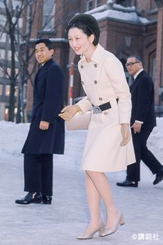 February 1971 Crown prince Akihito and Crown princess Michiko Osaka, Nagoya, Royal Family Trees, Danish Royal Family, Sapporo, Yokohama, Kyoto, Imperial Fashion, The Empress