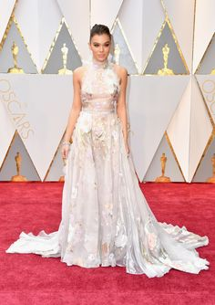 Oscars 2017 Faves: Hailee Steinfeld wearing nearly too sheer Ralph & Russo.