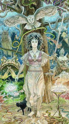 Queen of Swords - Sacred Sites Tarot