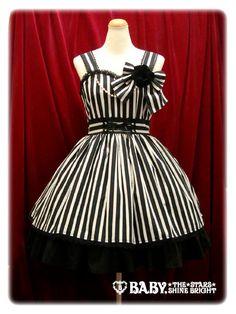 Kuranosuke Striped JSK  蔵之介ストライプジャンパースカート  Brand: Alice & the Pirates  Release Year: 2011  Price: ¥24,990  Measurements:  Size M: 90cm length, 86~100cm bust, 75~82cm waist