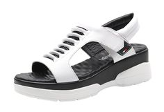 Passionow Women's Guncolor White Velcro Anti-Slip Breathable Platform Sandals *** Click image to review more details. (This is an Amazon affiliate link)