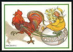 Glad Pask postcard