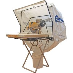 Chop saw dust collecting folding bonnet
