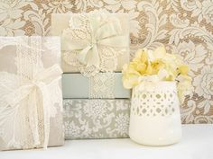 Lace gift wrapping