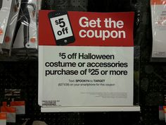 New Halloween Mobile Coupon for Target -  I came across a new mobile coupon code to save money on Halloween costumes at Target right now, just in time for a favorite holiday of my family.
