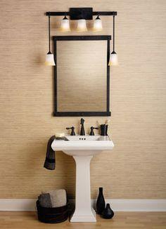 bathroom light ideas - cool lights!