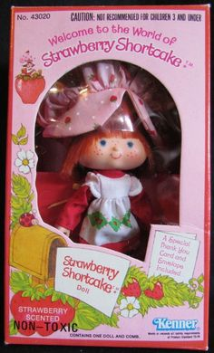 Cute little doll with a strawberry smell. My Childhood Memories, Childhood Toys, Best Memories, Little Doll, Little Girls, Retro Toys, 1960s Toys, Vintage Strawberry Shortcake, 80s Kids