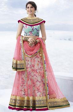 Lehenga Choli Designs - Buy Indian Wedding Lehenga Online for Bride Pink Lehenga, Net Lehenga, Lehenga Blouse, Bridal Lehenga Choli, Indian Lehenga, Anarkali, Lehenga Wedding, Western Lehenga, Floral Lehenga
