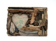 Handmade Heart Shaped Driftwood Frame (Made to Order)