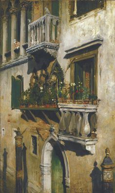 William Merritt Chase (1849–1916), Venice, 1877. Oil On Canvas, 22 x 13 in. Oklahoma City Museum of Art, Westheimer Family Collection, 1991.046.