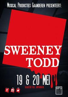 Voorkant Flyer Sweeney Todd by MPG ©Only-Me Vormgeving/Elserieke Dales