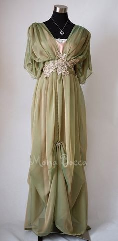 Edwardian dress Downton Abbey inspired handmade in England dress Lady Mary styled Express delivery