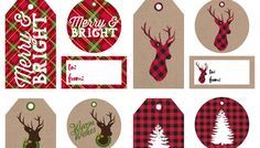 Find tons of free printable Christmas decor, gift tags, and handy planning tools like our free Christmas Planner and How to Host the Holidays Like a Pro! Christmas Name Tags, Free Printable Christmas Gift Tags, Free Christmas Gifts, Holiday Gift Tags, Merry Little Christmas, Wrapping Gift, Bright, Diy, Rustic