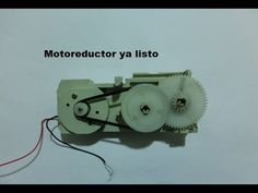 Motorreductor para robotica casero, muy fácil. Homemade gear motor for r...