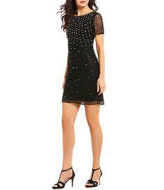 a468c000a4 MICHAEL Michael Kors Matte Jersey Lace Trim Bell Sleeve Shirred Neck Dress   Dillards