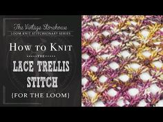 Day 12: How to Knit the Lace Trellis Stitch {31 Days of Knitting Series} - The Vintage Storehouse & Company