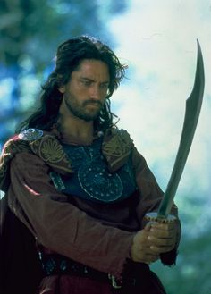 Gerard Butler, playing Attila the Hun, the first time I fell in love with him!! ( it was a mini series on TV).......;)