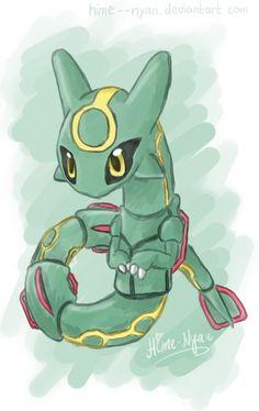 Aww look at this cute Rayquaza - Pokemon Ideen Rayquaza Pokemon, Anime Pokemon, Baby Pokemon, Pokemon Memes, Pokemon Fan Art, Pikachu Art, Pokemon Cards, Pokemon Mignon, Arte Assassins Creed