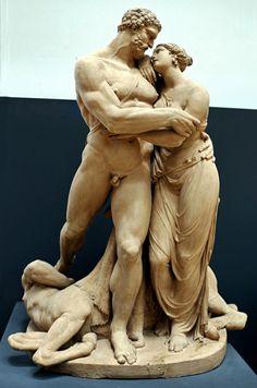 "hadrian6: "" Hercules and Deianira. 1801. Pietro Finelli. Italian. 1770-1812. terracotta. Accademia di San Luca. http://hadrian6.tumblr.com """