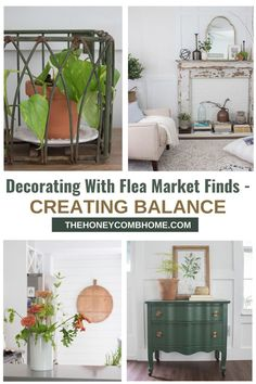 How to incorporate beautiful vintage pieces into your home without looking like an antique store.  #fleamarket #decorate #vintage #home
