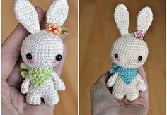 Patron Crochet Amigurumi : Petit lapin à bandana – Made by Amy