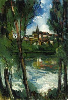 Landscape from beyond the River, 1920 - Maurice de Vlaminck