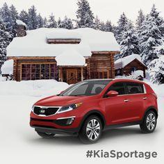 Escape to a winter wonderland. #KiaSportage