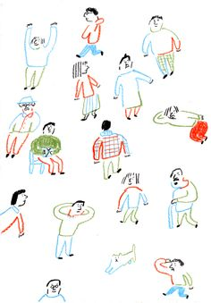 hitohito by Kitamura Jin Japanese Illustration, People Illustration, Portrait Illustration, Cute Illustration, Character Illustration, Graphic Design Illustration, Digital Illustration, Character Sketches, Cartoon Drawings
