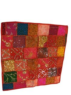 Sari Patchwork Table Cloth Red Multi Color Beaded Embroidered Wall Hanging Mogul Interior http://www.amazon.com/dp/B00L9X95Y4/ref=cm_sw_r_pi_dp_VG4Qtb1T4NSMDXWR