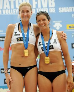 Kerri Walsh-Jennings and Misty May-Treanor, two time Olympic gold medalists in beach volleyball