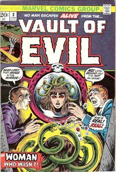 Vault of Evil 3 Marvel Comics Medusa by LifeofComics Brunner Tales of Horror Fear Terror Scary Creepy Nightmare 1973 #comicbooks