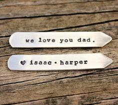 Custom Collar Stays for dad Kids Names by TagYoureItJewelry, $20.00