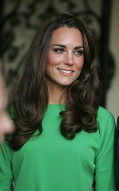 We wonder how long it takes for Kate to style her trademark curls? #katemiddleton #royals #hair