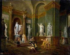 Hubert Robert ~ The Grande Galerie of the Louvre   Tutt'Art@   Pittura * Scultura * Poesia * Musica  