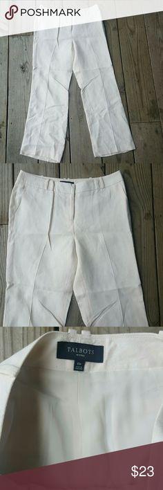 Gorgeous Talbots linen pants NWOT Linen, cream, Petite 10, lined, NWOT Talbots Pants Trousers