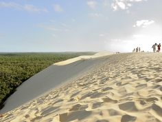 The Dune du Pilat is the largest sand dune in Europe, and well worth a day trip from Bordeaux. Pack your bag with some local oysters, climb the 360-foot staircase to the top, and enjoy the magnificent sites for hours: You'll see blue ocean on one side, green pine forest on the other, and paragliders lilting in every direction above.