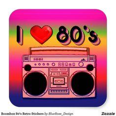 Boombox 80's Retro Stickers Square Stickerhttp://www.zazzle.com/personalized_black_and_pink_damask_tent_favor_box-256592314745864292?rf=238703308182705739