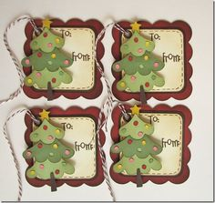 My Craft Spot: Monday Challenge - Christmas in July! Lots of ideas. Noel Christmas, Christmas Gift Tags, Christmas Paper, Christmas Decor, Christmas Packages, Stampin Up Christmas, Handmade Gift Tags, Handmade Birthday Cards, Card Tags