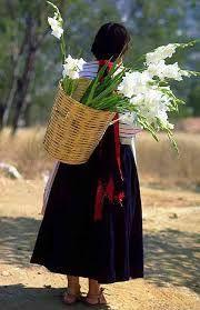 señora de Tamazulapam del Espiritu Santo con su traje tipico