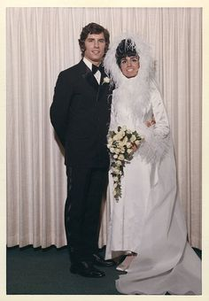 1968? Chic Vintage Brides, Vintage Wedding Photos, Vintage Gowns, Vintage Bridal, Wedding Pics, Wedding Bride, Wedding Styles, Vintage Weddings, Wedding Gowns
