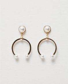 Image 1 of HORSESHOE EARRINGS from Zara